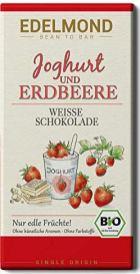 Edelmond Joghurt und Erdbeere Weiße Schokolade Sngle Origin