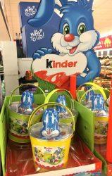 Ferrero Kinder Osterdisplay 2020 Töpfemit Osterhasen