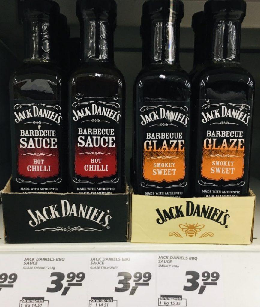 Jack Daniel's Barbecue Sauce Hot Chilli+Barbecue Glaze Smokey Sweet