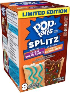 Kellogg's Pop Tarts Limited Edition SPLITZ Drizzled Sugar Cookie-Frosted Brownie Batter 8er
