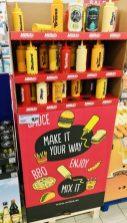 Millas Ketchup Maya in Kunststoffflaschen POS-Display