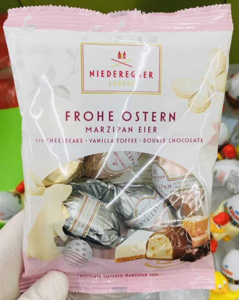 Niederegger Frohe Ostern Marzipaneier Cheesecake-Vanilla Toffee-Double Chocolate