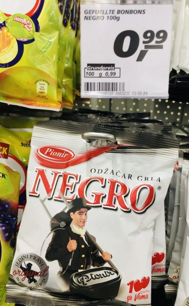 Pionir Negro Lakritz-Bonbon Beutel