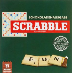 Scrabble Schokoladenusgabe mit Belgischer Schokolade