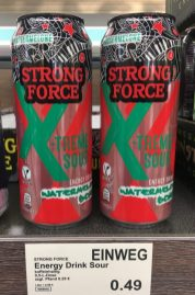 Strong Force X-treme Sour Energy Drink Watermelon-Geschmack