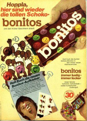 Werbung Bonits Schokolinsen