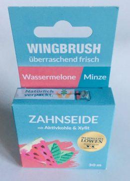 Wingbrush Zahnseide Wassermlone in umweltfreundlicher Verpackung