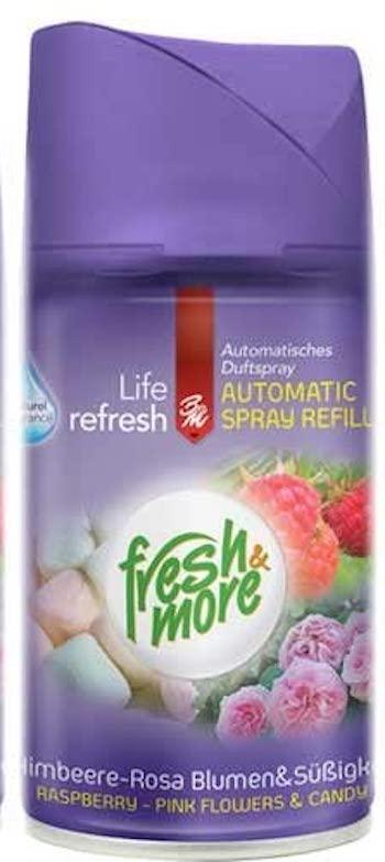 fresh & more Spray Refill Himbeere-Rosa Blumen-Süßigkeiten ...