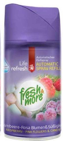 fresh & more Spray Refill Himbeere-Rosa Blumen-Süßigkeiten