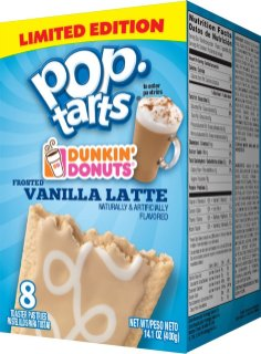 pop-tarts Limited Edition Donkin Donuts Frosted Vanilla Latte 8er