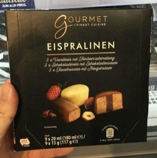 ALDI Gourmet Eispralinen 9x20 Gramm 180 ML