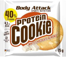 Body Attack Sports Nutrition protein Cookie White Chocolate Almond 75G