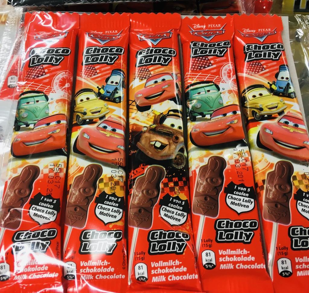 Cars Choco Lolly