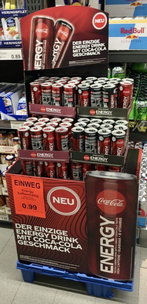 Coca Cola Energy POS-Display
