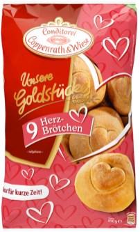 Conditorei Coppenrath & Wiese Unsere Goldstücke 9 Herzbrötchen 450G