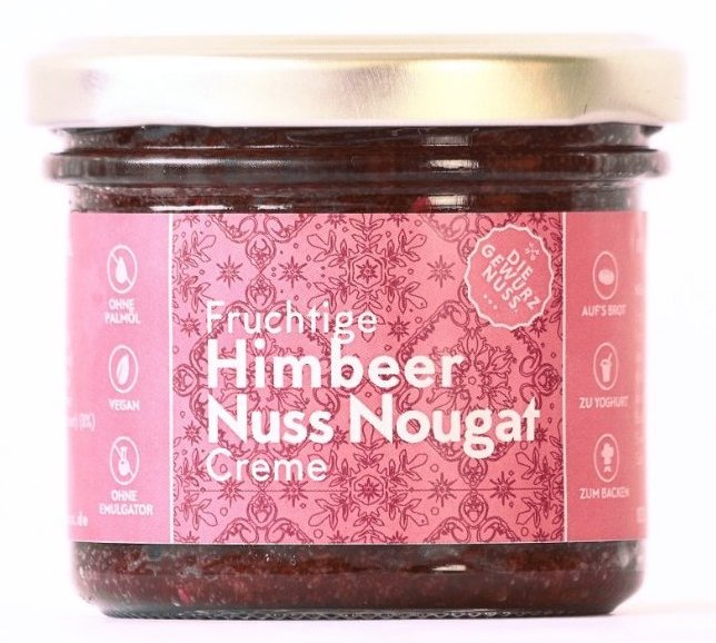 Die Gewürznuss Fruchtige Himbeer-Nuss-Nougat-Creme Brotaufstrich