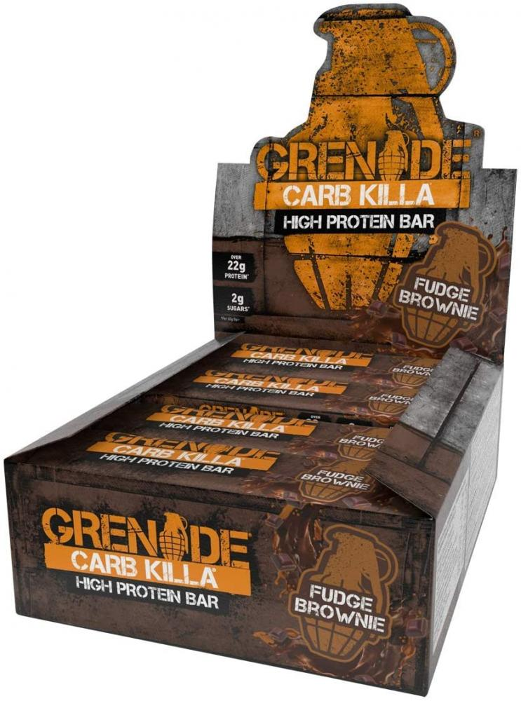 Grenade Carb Killa High Protein Proteinriegel Fudge Brownie 12x60g