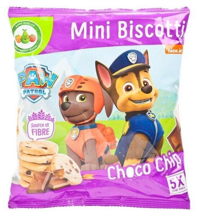 Paw Patrol Mini Biscotti Choco Chip 5er 20g