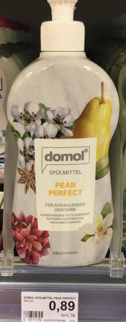 Rossmann Domol Spülmittel Pear Perfect Birne