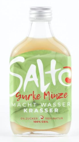 Salto Fruchtgeschmack für Wasser, Gurke-Minze.