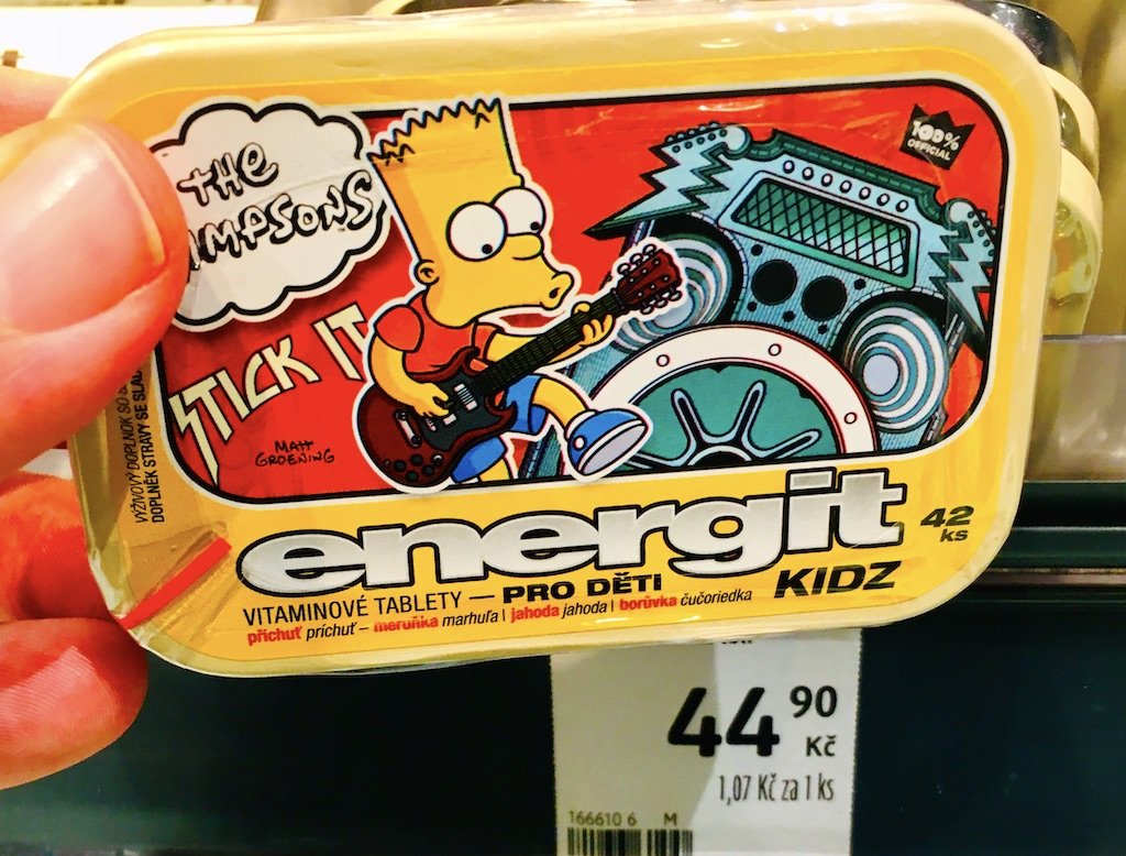 The Simpsons energit KIDZ Vitamintabletten Tschechien Bart