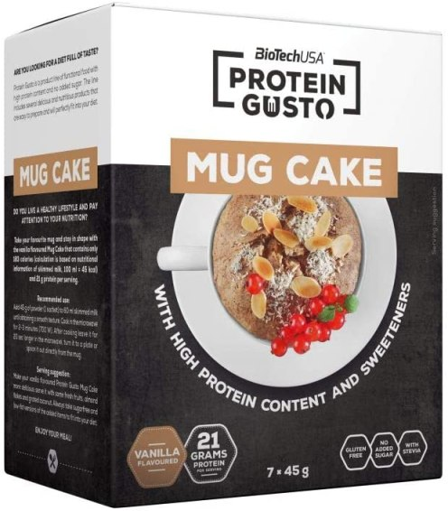 BioTechUSA Protein Gusto Mug Cake Vanilla 7x45G
