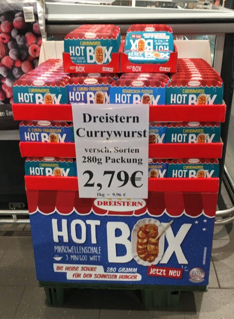 Dreistern Currywurst Hot Box POS-Display