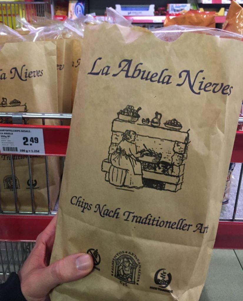 La Abuela Nieves Chips nach traditioneller Art Papiertüte aus Spanien 200G