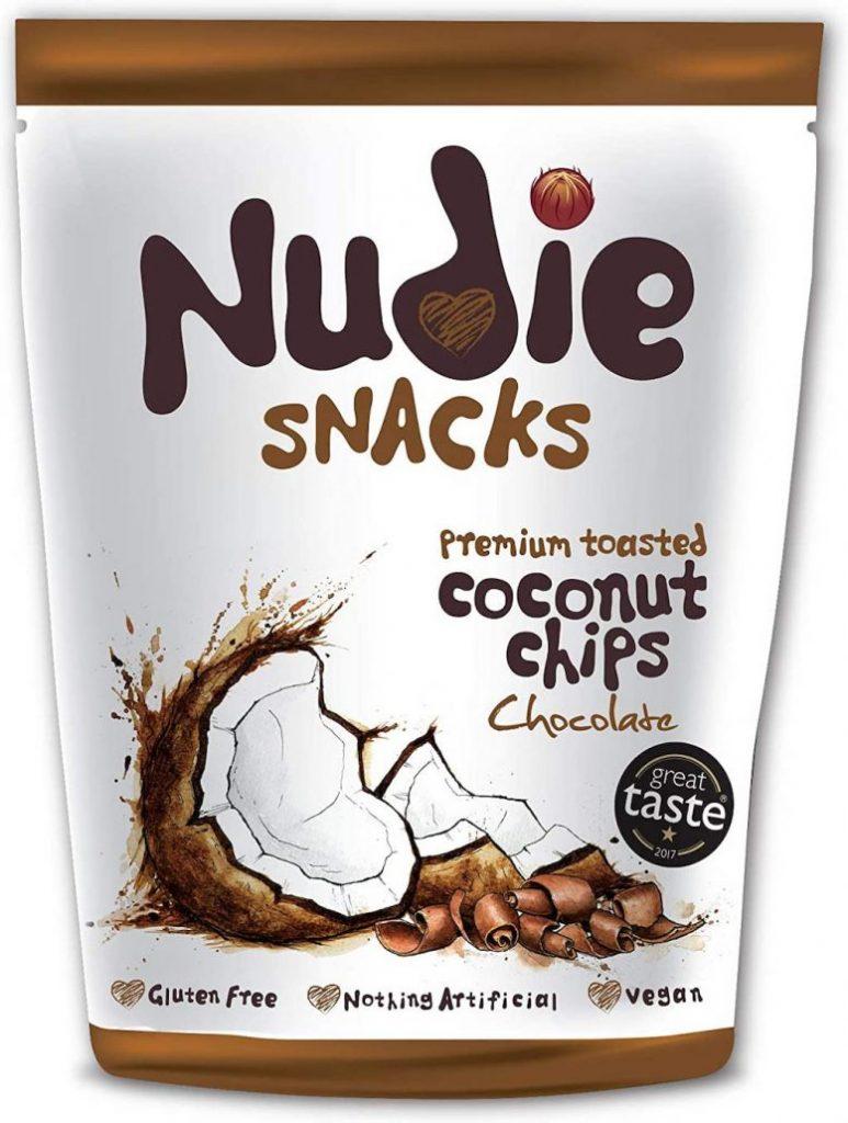 Nudie Snacks Coconut Chips Chocolate