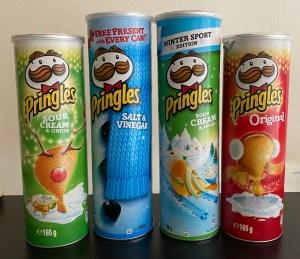 Pringles-Dosen Weihnachtsmotive