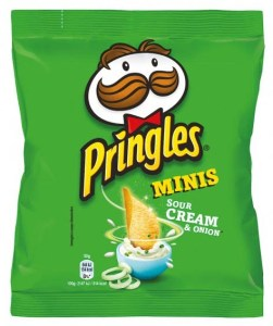 Pringles Mini Sour Cream+Onions Folienbeutel 30G