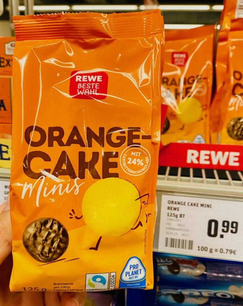 REWE Beste Wahl OrangeCake Minis 125G Jaffacake