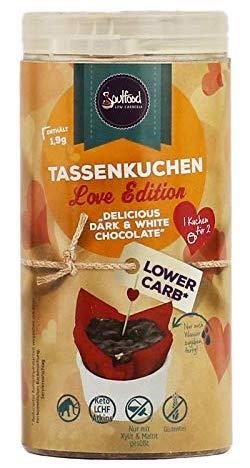 Soulfood Tassenkuchen Love Edition Delicious Dark+White Chocolate Lower Carb