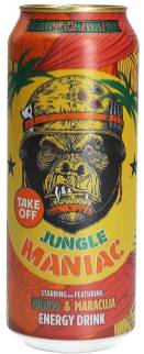 Take Off Energydrink Jungle Maniac Mango Maracuja Getränkedose Affenmotiv 500ml