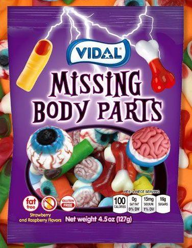 Vidal Missing Body Parts 127 Gramm