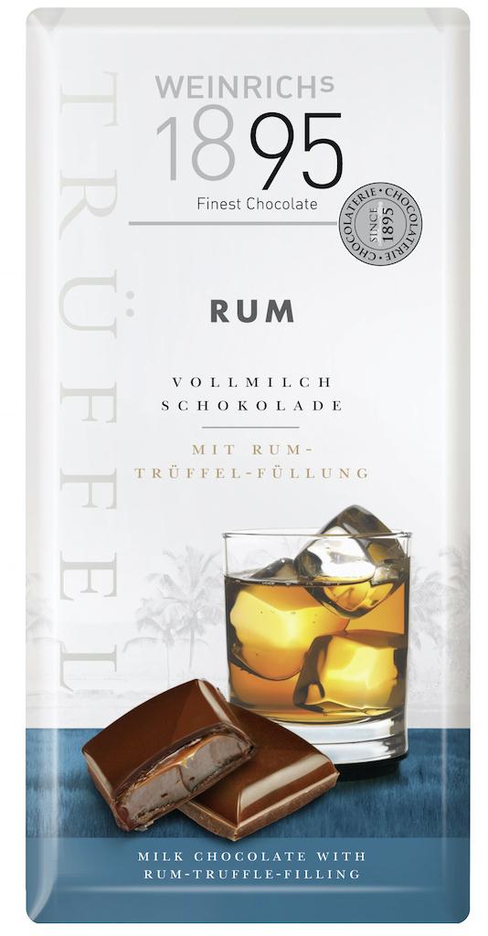 Weinrichs 1895 Finest Chocolate RUM Vollmilch-Schokolade