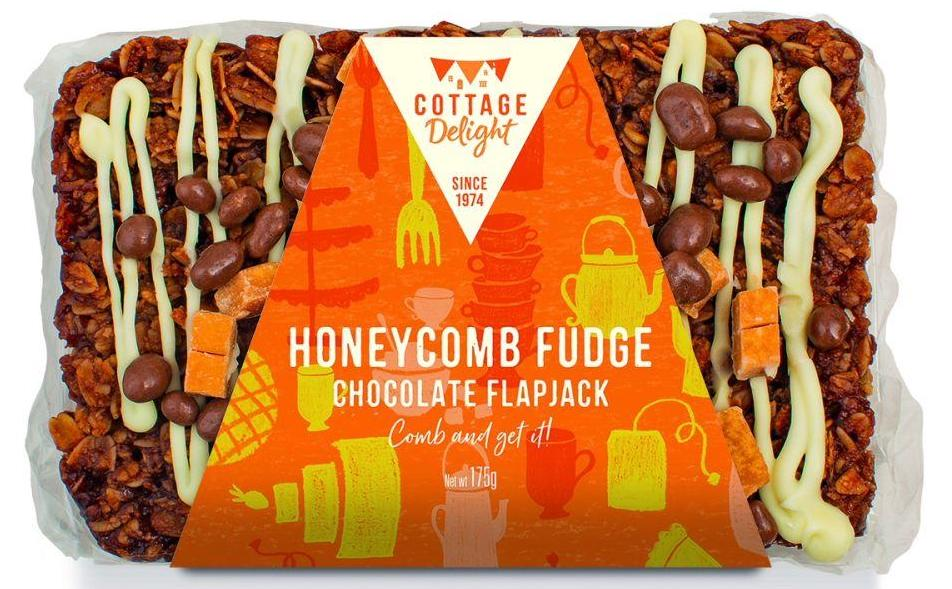 Cottage Delight Honeycomb Fudge Chocolate Flapjack 175g