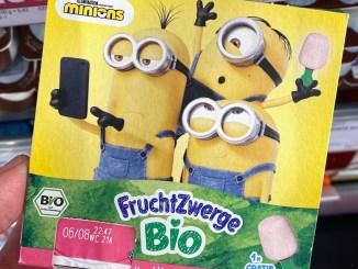 Danone Bio-FruchtZwerge Minions 4er Himbeere Gratis Eisstäbchen