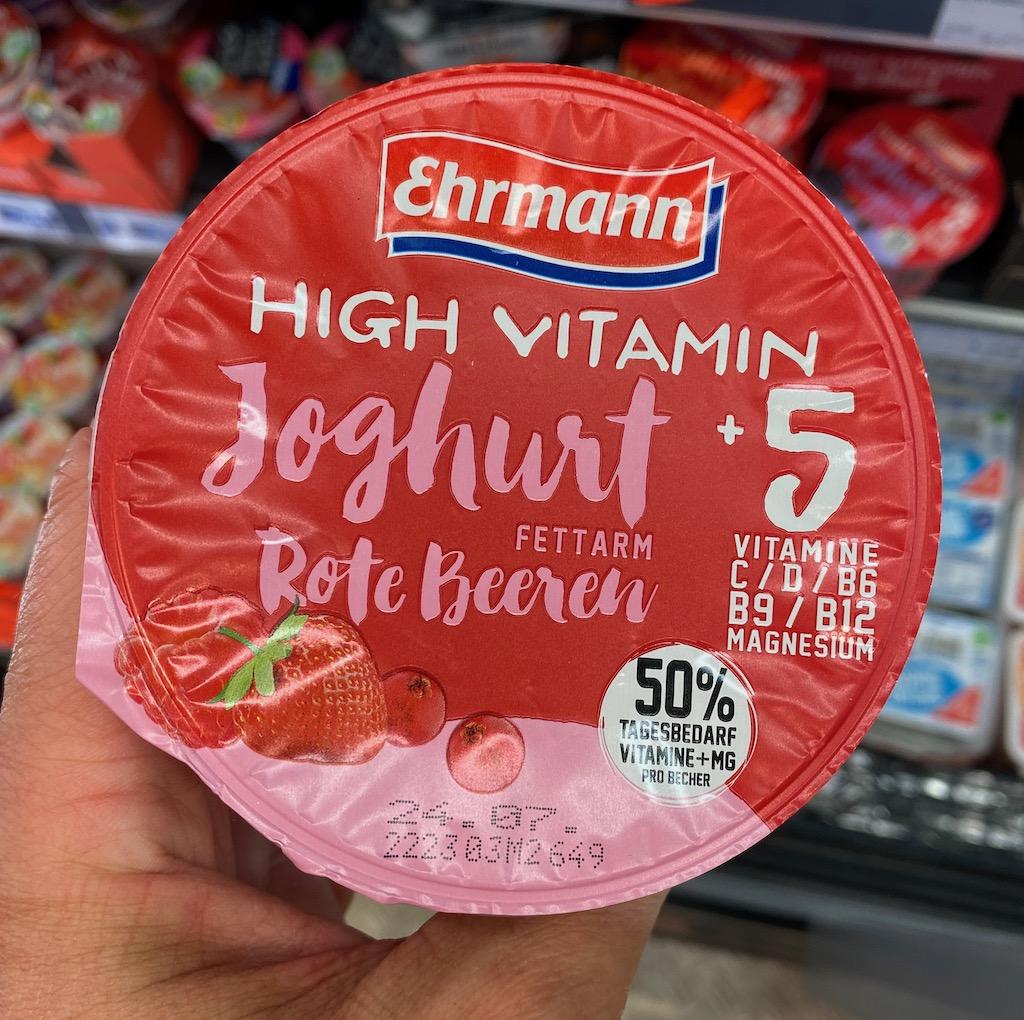Ehrmann High Vitamin Joghurt Rote Beeren mit 5 Vitaminen+Magnesium