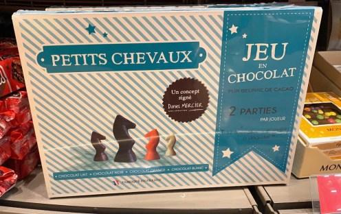 Jeu en Chocolat Petits Chaveux Schokoladenpferdchen Frankreich