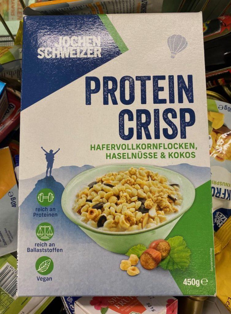 Jochen Schweizer Protein Crisps Hafervollkornflocken Haselnüsse+Kokos 450G