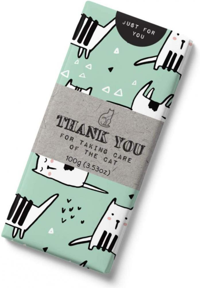 Just for you Tafelschokolade mit Katze auf Verpackung 100Gramm