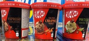 Nestlé KitKat Eiskrem Espresso Explosion-Salted Caramel Burst-Matcha Green Tea 500ML Pints
