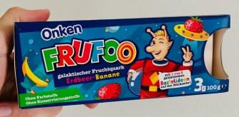 Onken Frufoo Erdbeer-Banane Joghurt mit Bastelidee