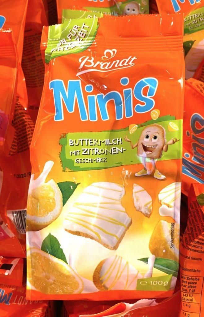 Brandt Minis Buttermilch mit Zitronengeschmack100G