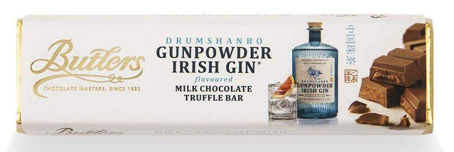 Butlers Gunpowder Irish Gin Milk Chocolate Truffle Bar