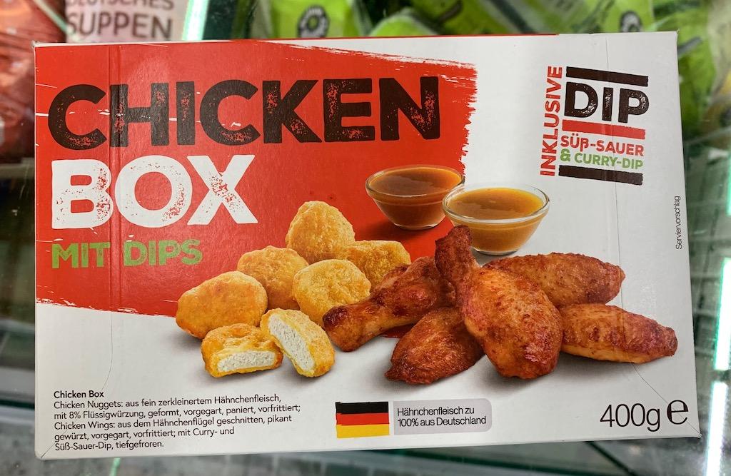 ChickenBox mit Dips süß-sauer+curry 400G