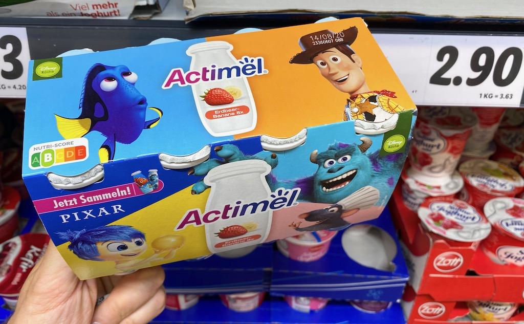 Danone Actimel Disney Küche Pixar Nutri-Score