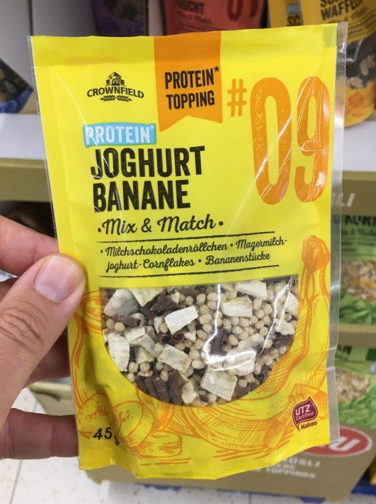Lidl Crownfield Protein Topping Joghurt Banane 45G Müsli Mix+Match