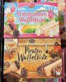 Nawarra Prinzessinnen-Waffelkiste und Piraten-Waffelkisten Schaumzuckerware